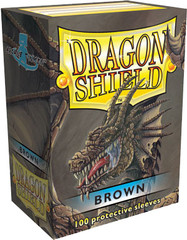 Dragon Shield Box of 100 in Brown on Channel Fireball