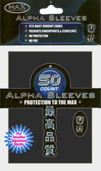 Alpha Black - (Max Protection) Standard Sleeves - 50ct