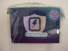 Max Protection Horizontal Blue Lightning Bolt Deck Box
