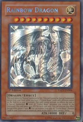 Rainbow Dragon - TAEV-EN006 - Ghost Rare - 1st Edition