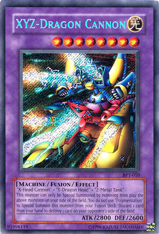 XYZ-Dragon Cannon - BPT-010 - Secret Rare - Limited Edition
