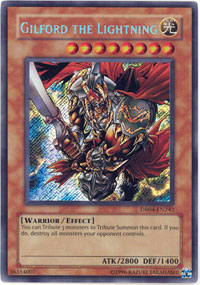 Gilford the Lightning - DR04-EN242 - Secret Rare - Unlimited Edition