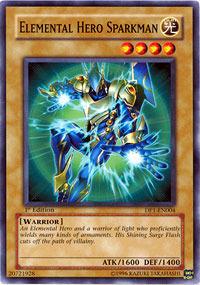Elemental Hero Sparkman - MF03-EN004 - Parallel Rare - Promo Edition