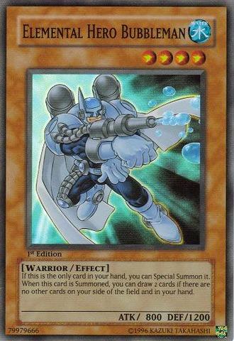 Elemental Hero Bubbleman - MF03-EN007 - Parallel Rare - Promo Edition