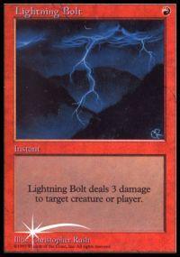 Lightning Bolt - Foil DCI Judge Promo
