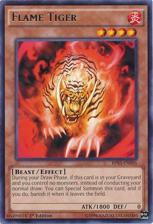 Flame Tiger - BP03-EN095 - Rare - 1st Edition