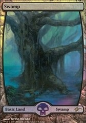 Basic Swamp - Full Art - DCI Judge Promo