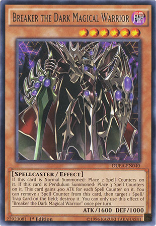 Breaker the Dark Magical Warrior - DUEA-EN040 - Rare - 1st Edition