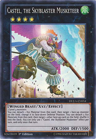 Castel, the Skyblaster Musketeer - DUEA-EN054 - Super Rare - 1st Edition