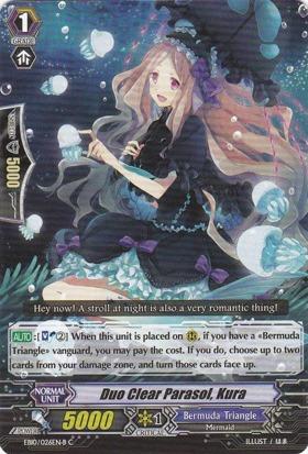 Duo Clear Parasol, Kura - Black - EN10/026EN-B - C