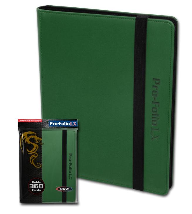 BCW Pro-Folio 9-Pocket LX - Green