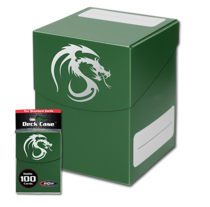 BCW Large Deck Case - Green