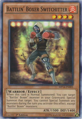 Battlin' Boxer Switchitter - MP14-EN005 - Common - 1st Edition