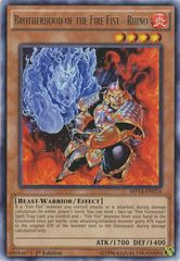 Brotherhood of the Fire Fist - Rhino - MP14-EN014 - Rare - 1st Edition on Channel Fireball