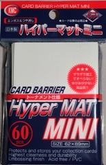 KMC Mini Sized Hyper Matte White Sleeves 60 CT