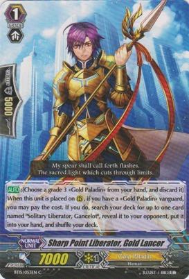 Sharp Point Liberator, Gold Lancer - BT15/053EN - C