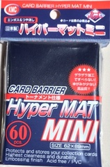 KMC Mini Sized Hyper Matte Blue Sleeves 60 CT