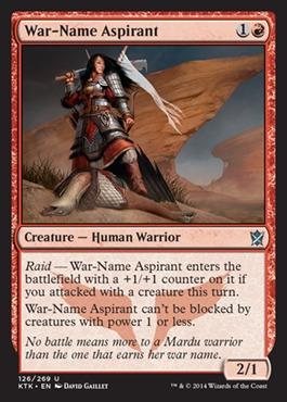 War-Name Aspirant - Foil