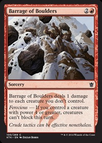 Barrage of Boulders - Foil