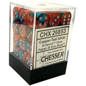 36 Gemini Copper Teal/Silver D6 - CHX26853