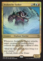 Avalanche Tusker Khans of Tarkir Intro Deck Foil