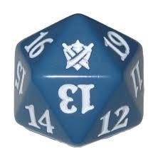 Magic Spindown Die - Khans of Tarkir - Blue