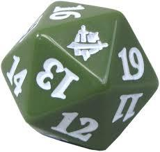 Magic Spindown Die - Khans of Tarkir - Green
