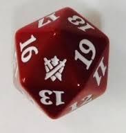Magic Spindown Die - Khans of Tarkir - Red