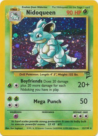 Nidoqueen - 12/130 - Holo Rare - Unlimited Edition