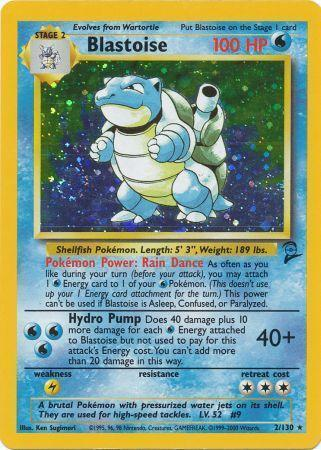 Blastoise - 2/130 - Holo Rare - Unlimited Edition