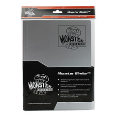 Monster Protectors 9-Pocket Binder - Matte Gun Metal Silver