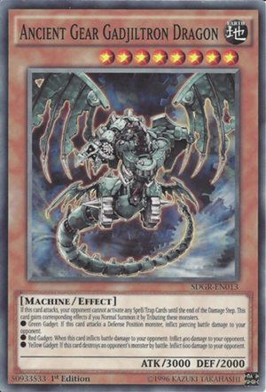 Ancient Gear Gadjiltron Dragon - SDGR-EN013 - Common - 1st Edition