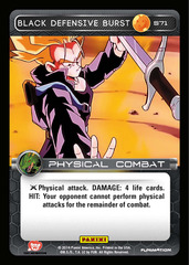 Black Defensive Burst - 71 - Foil