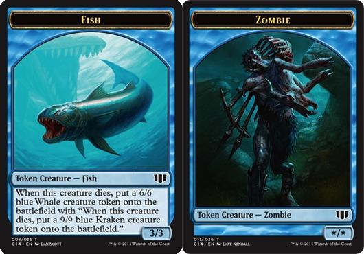 Fish Token // Zombie Token - Blue