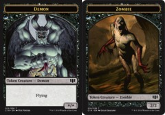Demon Token // Zombie Token - Black