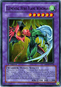 Elemental Hero Flame Wingman - DP1-EN010 - Super Rare - 1st Edition