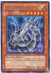 Cyber Dragon - DP04-EN001 - Rare - 1st Edition on Channel Fireball
