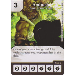 Ambush - Basic Action Card (Die  & Card Combo)