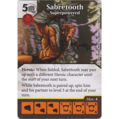 Sabretooth - Superpowered (Die  & Card Combo)