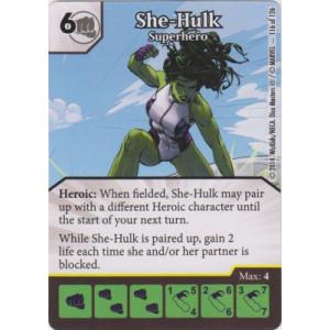 She-Hulk - Superhero (Die  & Card Combo)