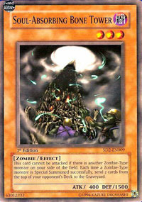 Soul-Absorbing Bone Tower - SD2-EN009 - Common - 1st Edition