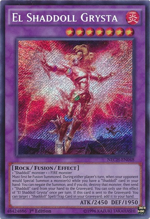 El Shaddoll Grysta - NECH-EN048 - Secret Rare - 1st Edition