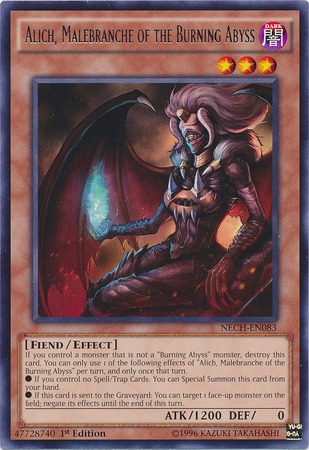 Alich, Malebranche of the Burning Abyss - NECH-EN083 - Rare - 1st Edition