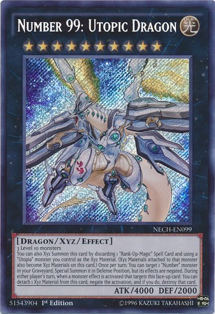 Number 99: Utopic Dragon - NECH-EN099 - Secret Rare - 1st Edition
