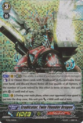 Eradicator, Twin Thunder Dragon - FC02/014EN - RRR