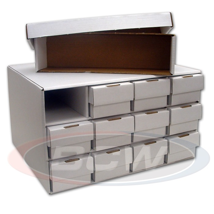 BCW Card House Storage Box WITH 12 802 ct. Boxes