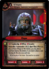 K'mpec, Klingon Supreme Commander