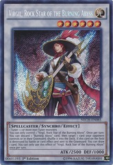 Virgil, Rock Star of the Burning Abyss - NECH-EN085 - Secret Rare - Unlimited Edition