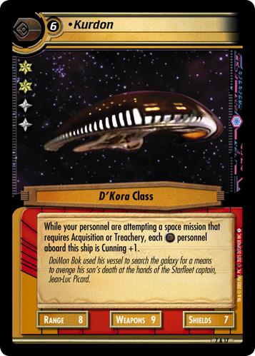 Kurdon - Archive Foil - Star Trek CCG 2E » Strange New Worlds