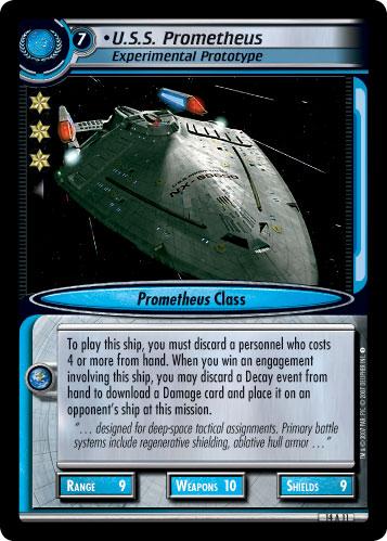 U S S  Prometheus, Experimental Prototype - Archive Foil - Star Trek